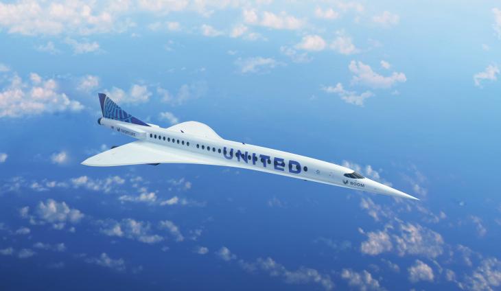 United Airlines ostaa 15 yliäänen suihkukoneita Boom Supersonicilta