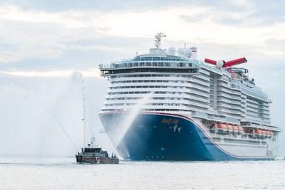 Carnival Cruise Line-дің Марди Гра АҚШ-тағы дебютін жасайды