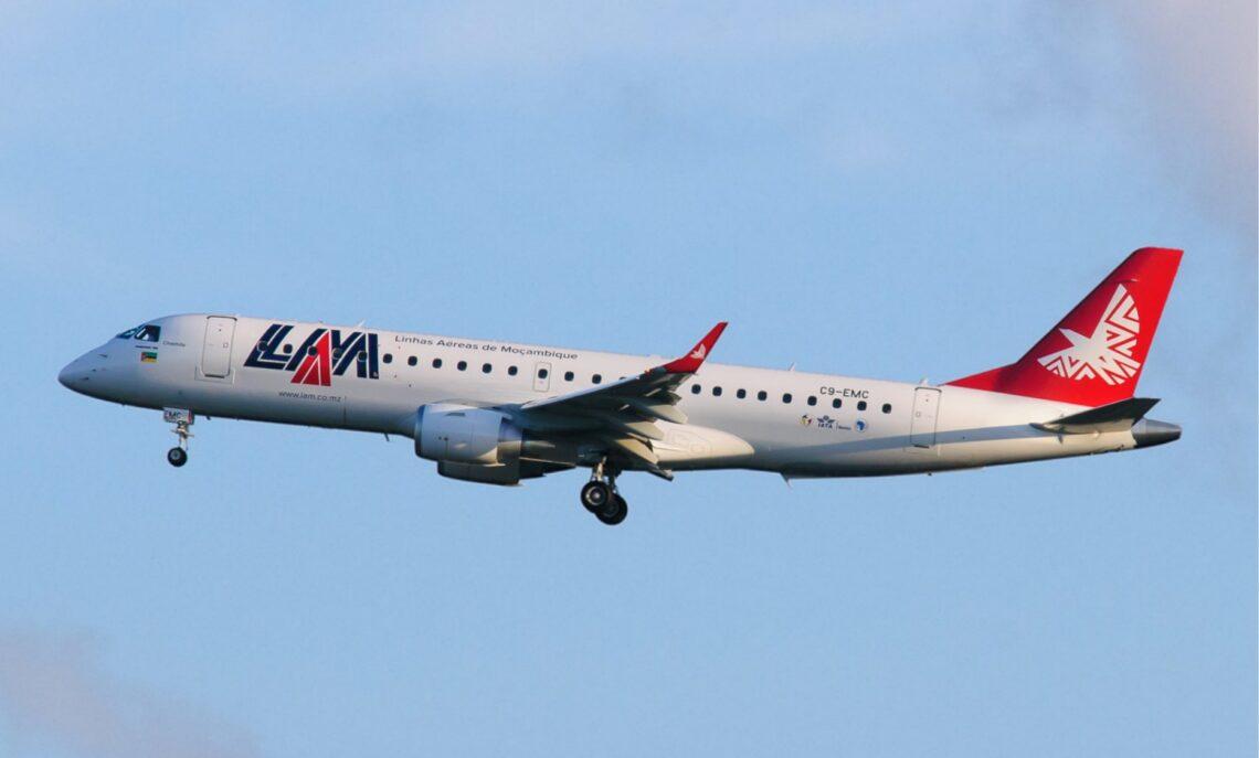 LAM Mozambique Airlines los muag nws cov Embraer aircraft hauv cov nqi txiav tawm