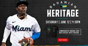 Il-wirt Bahamian se jkun iċċelebrat fil-logħba Miami Marlins fit-12 ta 'Ġunju, 2021