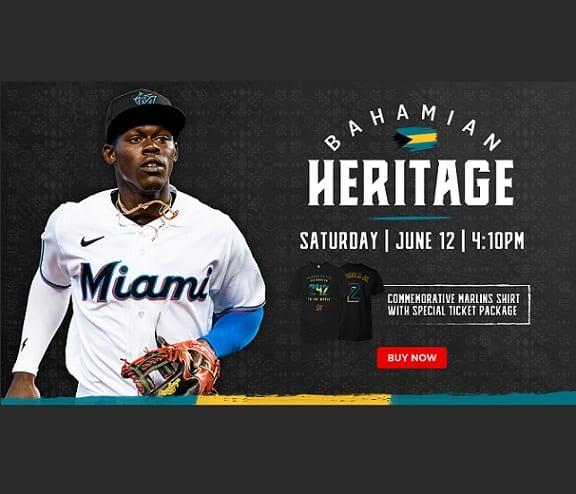 Бахамското наследство ще бъде празнувано в играта на Маями Марлинс на 12 юни 2021 г.