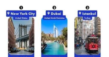 Top 10 travel destinations trending on TikTok