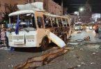 Várias pessoas feridas na explosão de um ônibus russo