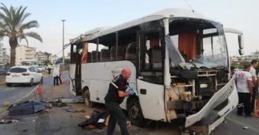 თურქეთის ავტობუსების კატასტროფის შედეგად ოთხი რუსი ტურისტი დაიღუპა და 16 დაშავდა