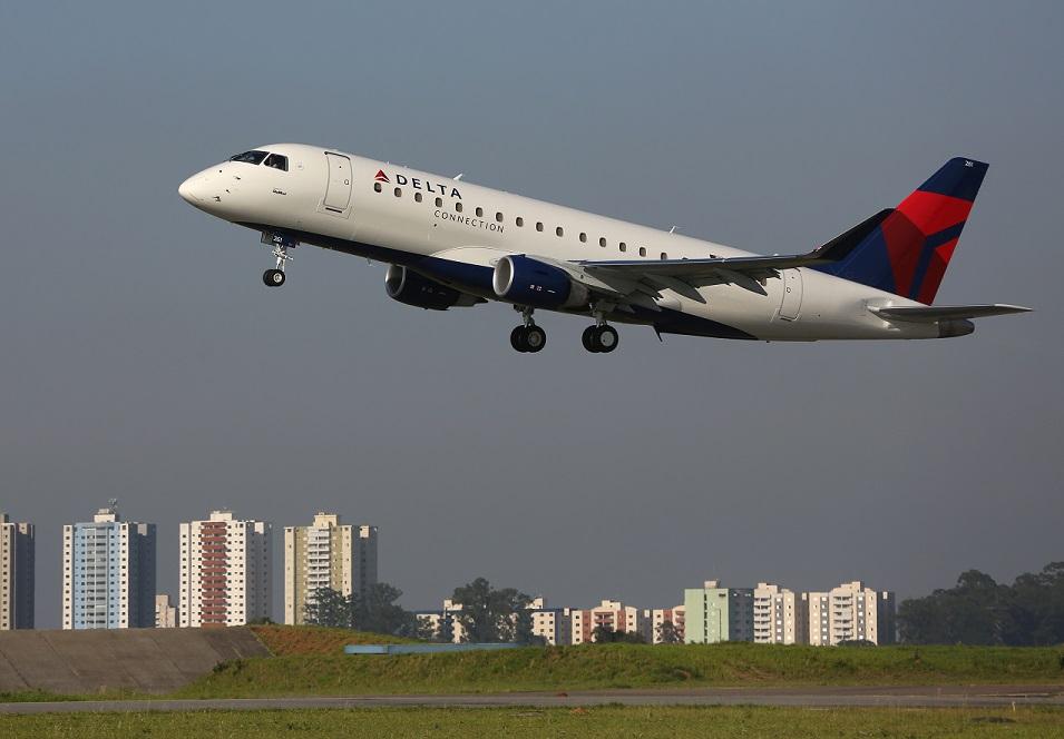 SkyWest achte 16 New Embraer Jets pou Delta Air Network