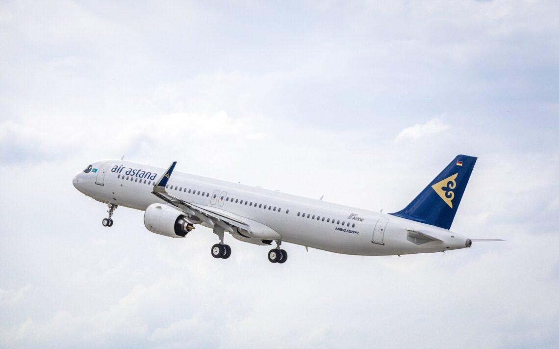 ایئر آستانہ کو اپنا چھٹا نیا ایئر بس A321LR جیٹ موصول ہوا۔