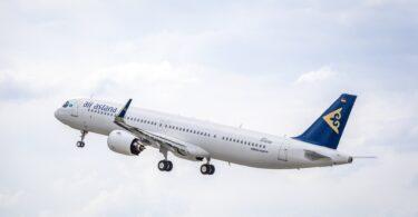 Air Astana resevwa sizyèm nouvo avyon Airbus A321LR li yo
