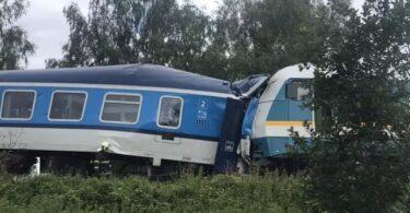 Juna törmäsi Pilsenissä