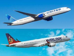 Түштүк Африка азыр United Airlines жана Airlink менен учат