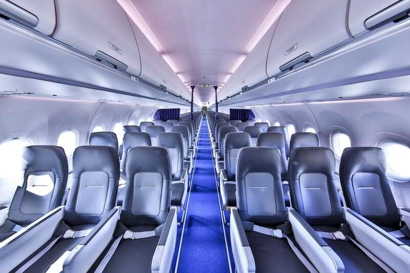 A nova cabine Airbus Single-Aisle Airspace adiciona conforto aos voos da Lufthansa
