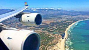 Ang flight ng Johannesburg papuntang Cape Town sa South African Airways ngayon