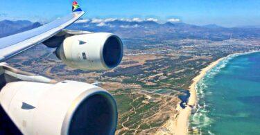 Voo de Johannesburgo a Cidade do Cabo en South African Airways agora