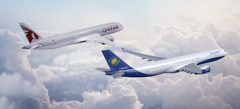 Kigali to Doha nonstop flights now with Qatar Airways and RwandAir new codeshare deal