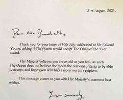 Хатан хаан II Елизавета оны шилдэг эмэгтэй шагналыг авахаас татгалзжээ.