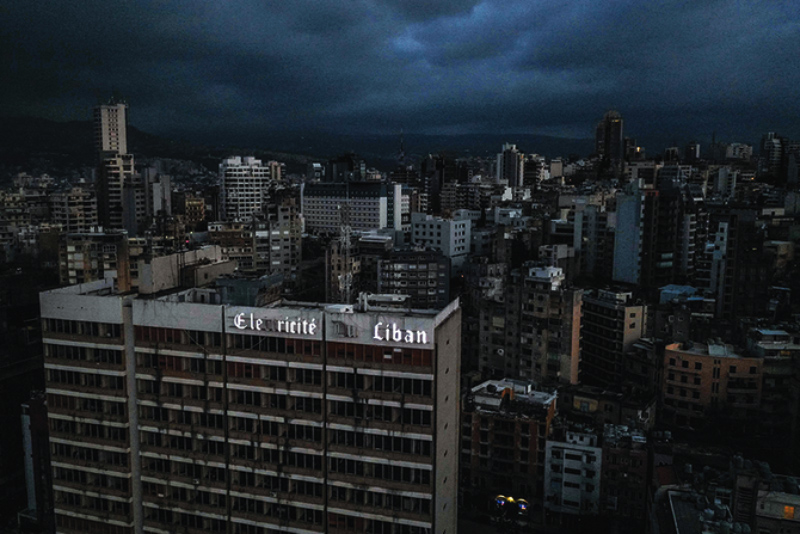 Lebanon goes dark after the complete power outage